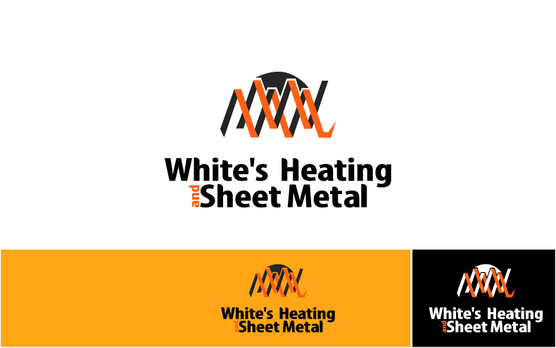 Logo Design by Private User - Entry No. 12 in the Logo Design Contest Imaginative Logo Design for White's Heating and Sheet Metal.