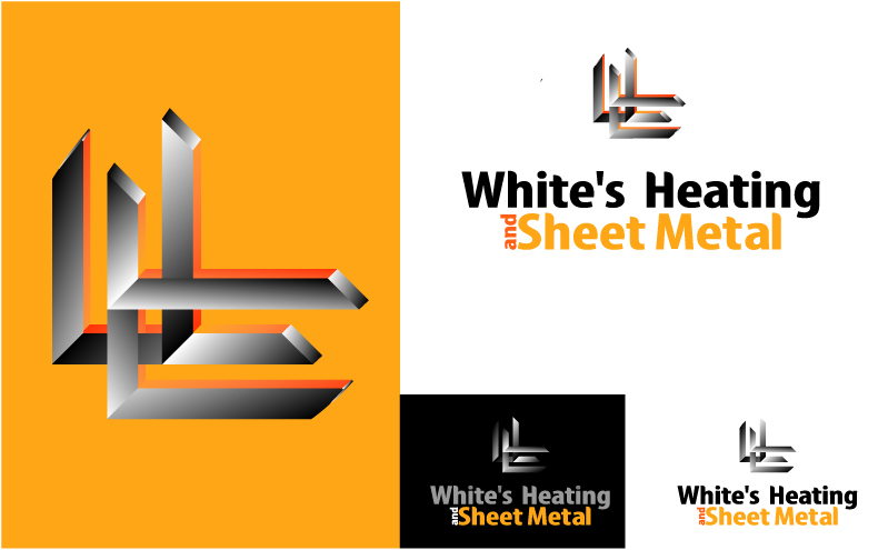Logo Design by Private User - Entry No. 13 in the Logo Design Contest Imaginative Logo Design for White's Heating and Sheet Metal.