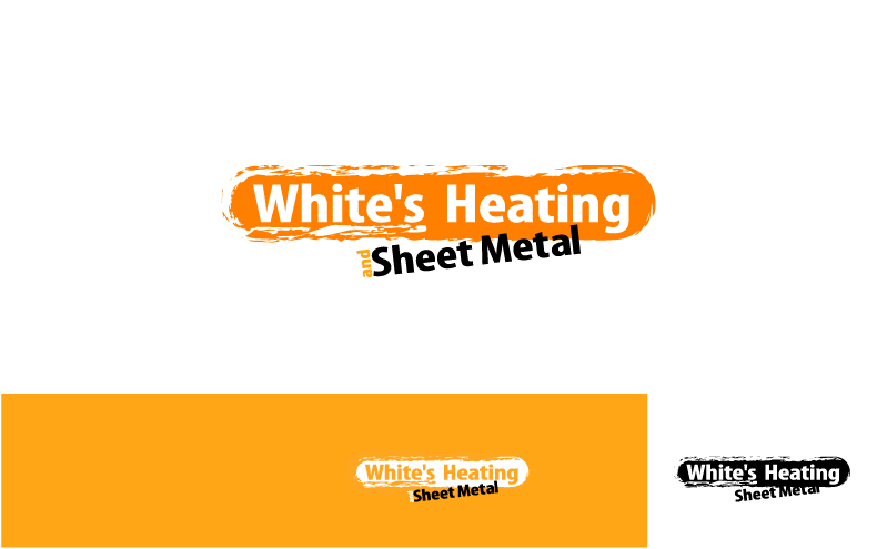 Logo Design by Private User - Entry No. 14 in the Logo Design Contest Imaginative Logo Design for White's Heating and Sheet Metal.