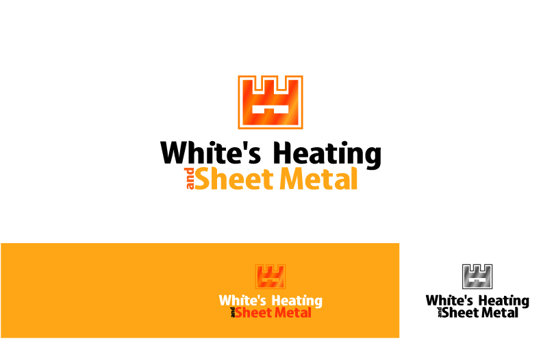 Logo Design by Private User - Entry No. 15 in the Logo Design Contest Imaginative Logo Design for White's Heating and Sheet Metal.