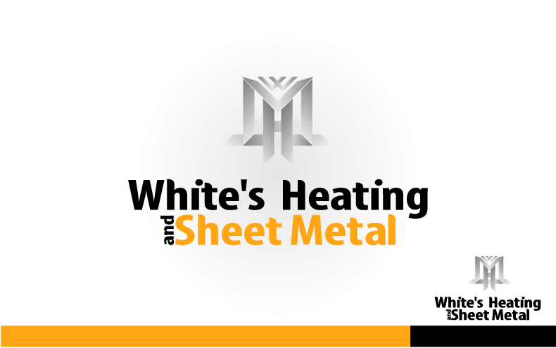 Logo Design by Private User - Entry No. 16 in the Logo Design Contest Imaginative Logo Design for White's Heating and Sheet Metal.