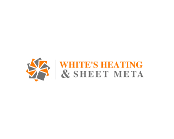 Logo Design by Parag Sohani - Entry No. 18 in the Logo Design Contest Imaginative Logo Design for White's Heating and Sheet Metal.