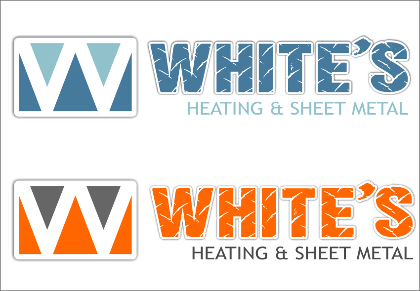 Logo Design by RasYa Muhammad Athaya - Entry No. 23 in the Logo Design Contest Imaginative Logo Design for White's Heating and Sheet Metal.