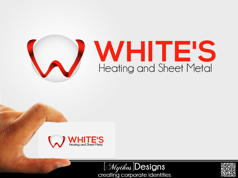 Logo Design by Mythos Designs - Entry No. 25 in the Logo Design Contest Imaginative Logo Design for White's Heating and Sheet Metal.