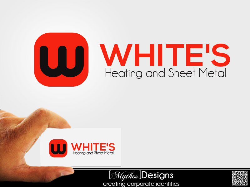 Logo Design by Mythos Designs - Entry No. 26 in the Logo Design Contest Imaginative Logo Design for White's Heating and Sheet Metal.