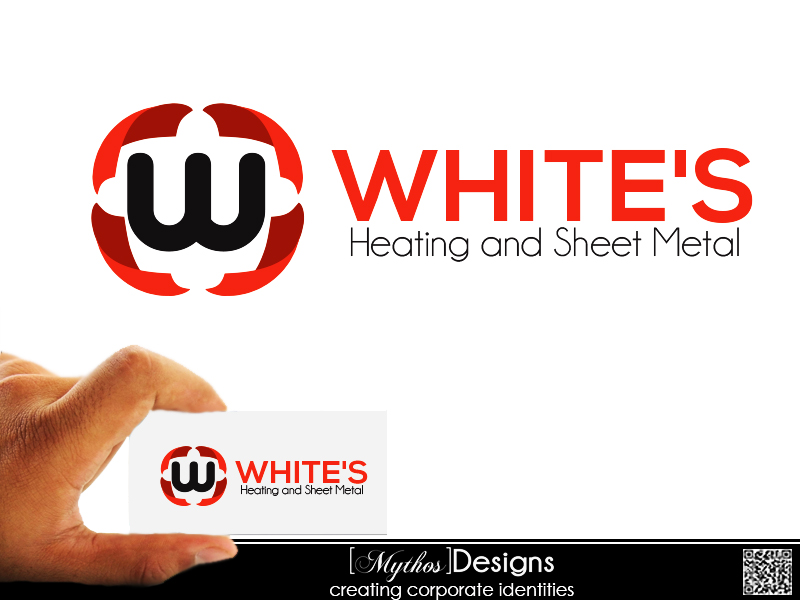 Logo Design by Mythos Designs - Entry No. 28 in the Logo Design Contest Imaginative Logo Design for White's Heating and Sheet Metal.