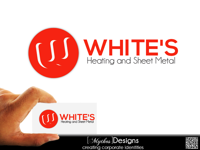 Logo Design by Mythos Designs - Entry No. 29 in the Logo Design Contest Imaginative Logo Design for White's Heating and Sheet Metal.