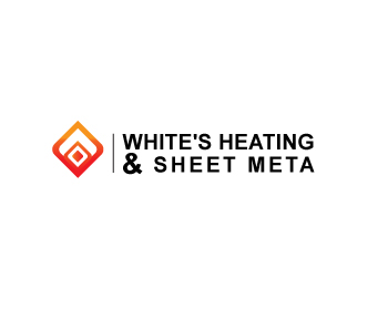 Logo Design by Parag Sohani - Entry No. 30 in the Logo Design Contest Imaginative Logo Design for White's Heating and Sheet Metal.