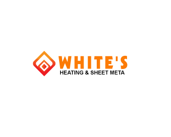 Logo Design by Parag Sohani - Entry No. 32 in the Logo Design Contest Imaginative Logo Design for White's Heating and Sheet Metal.