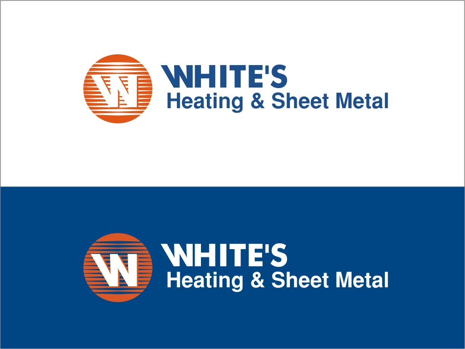 Logo Design by RED HORSE design studio - Entry No. 34 in the Logo Design Contest Imaginative Logo Design for White's Heating and Sheet Metal.