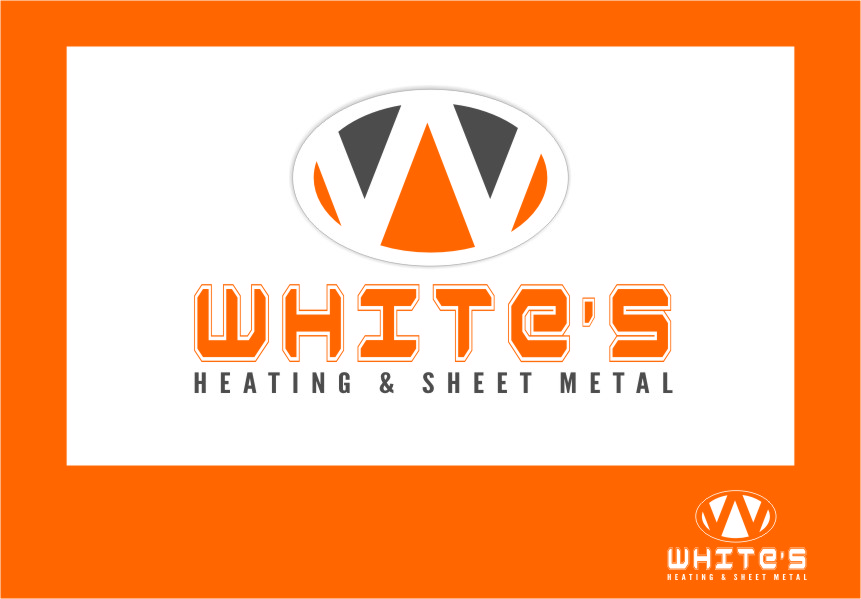 Logo Design by RasYa Muhammad Athaya - Entry No. 41 in the Logo Design Contest Imaginative Logo Design for White's Heating and Sheet Metal.