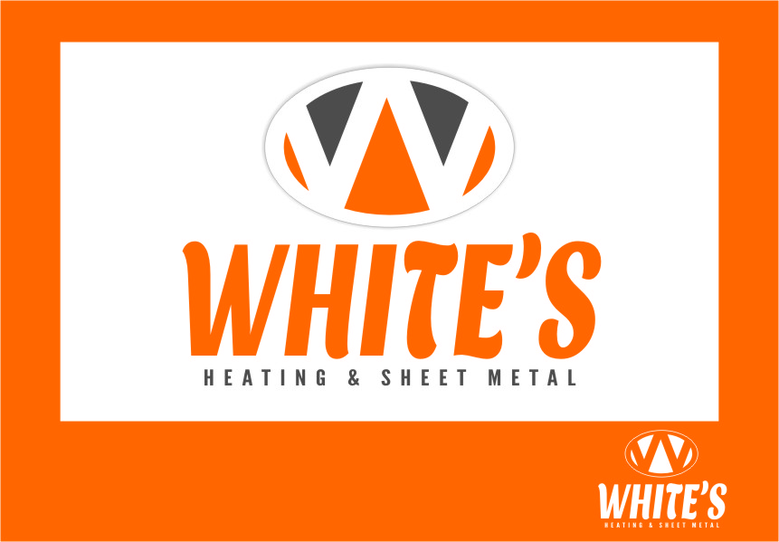 Logo Design by RasYa Muhammad Athaya - Entry No. 42 in the Logo Design Contest Imaginative Logo Design for White's Heating and Sheet Metal.