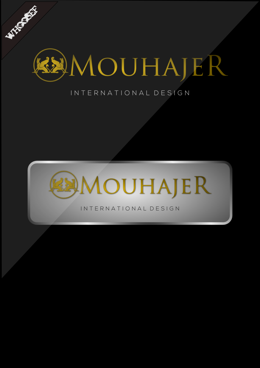 Logo Design by whoosef - Entry No. 50 in the Logo Design Contest Unique Logo Design Wanted for Mouhajer International Design.