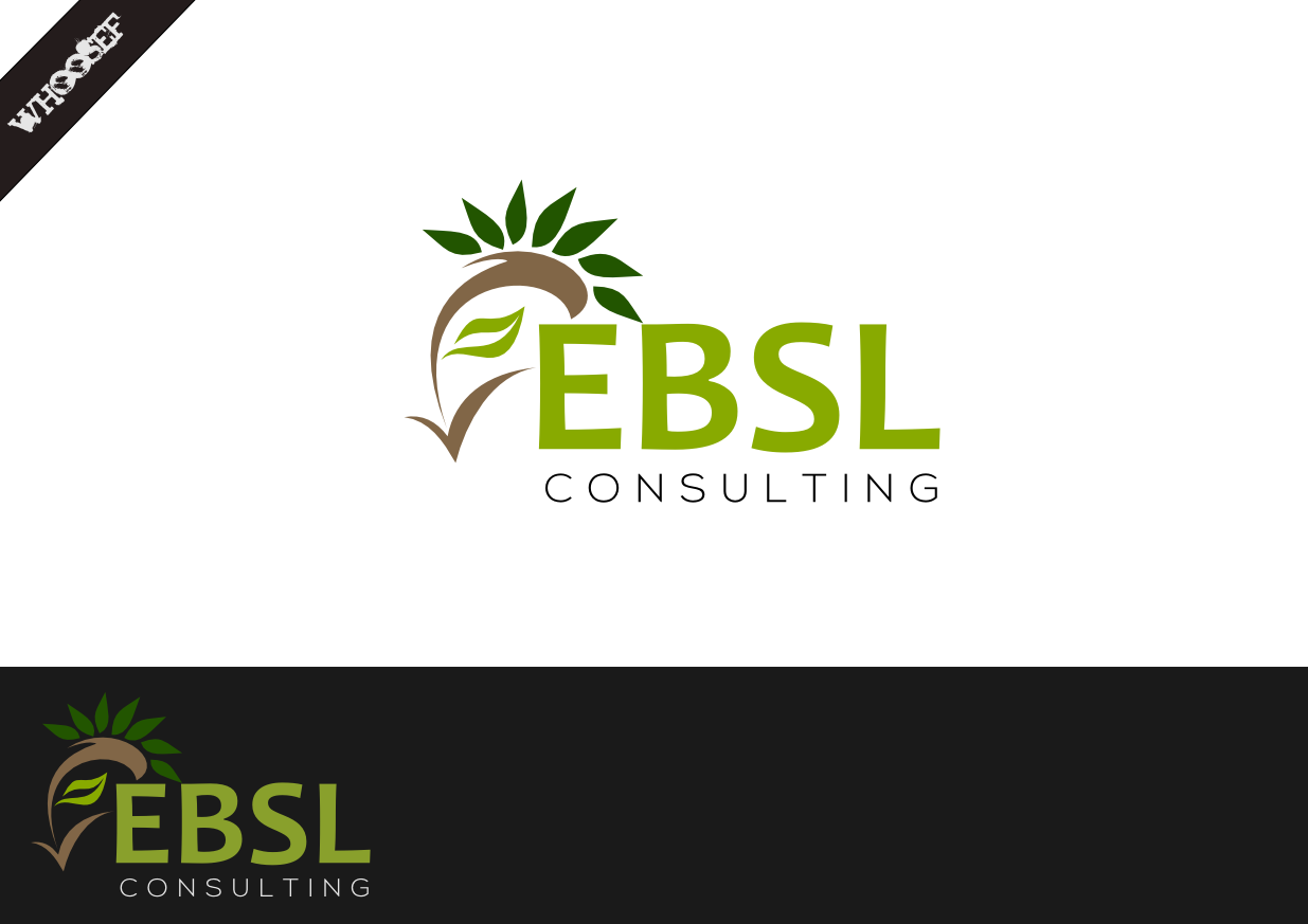 Logo Design by whoosef - Entry No. 53 in the Logo Design Contest EBSL Consulting Logo Design.