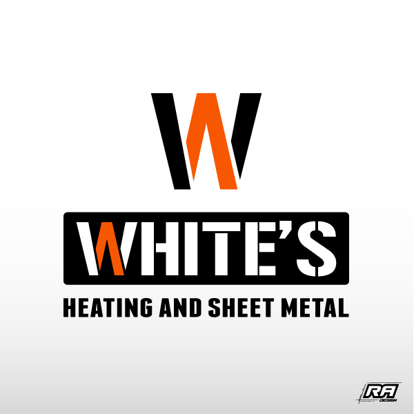 Logo Design by RA-Design - Entry No. 44 in the Logo Design Contest Imaginative Logo Design for White's Heating and Sheet Metal.