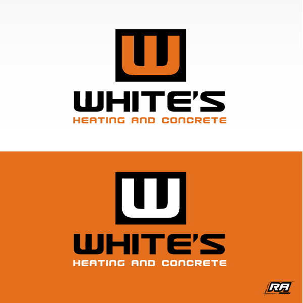Logo Design by RA-Design - Entry No. 45 in the Logo Design Contest Imaginative Logo Design for White's Heating and Sheet Metal.