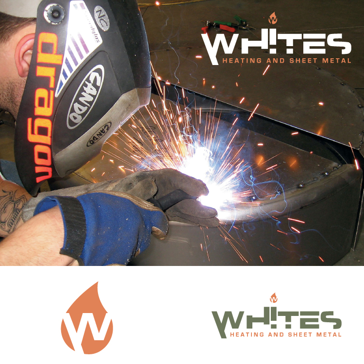 Logo Design by Hector Martinez - Entry No. 46 in the Logo Design Contest Imaginative Logo Design for White's Heating and Sheet Metal.
