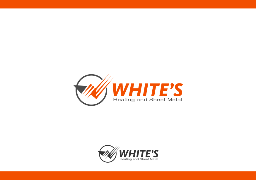 Logo Design by graphicleaf - Entry No. 48 in the Logo Design Contest Imaginative Logo Design for White's Heating and Sheet Metal.