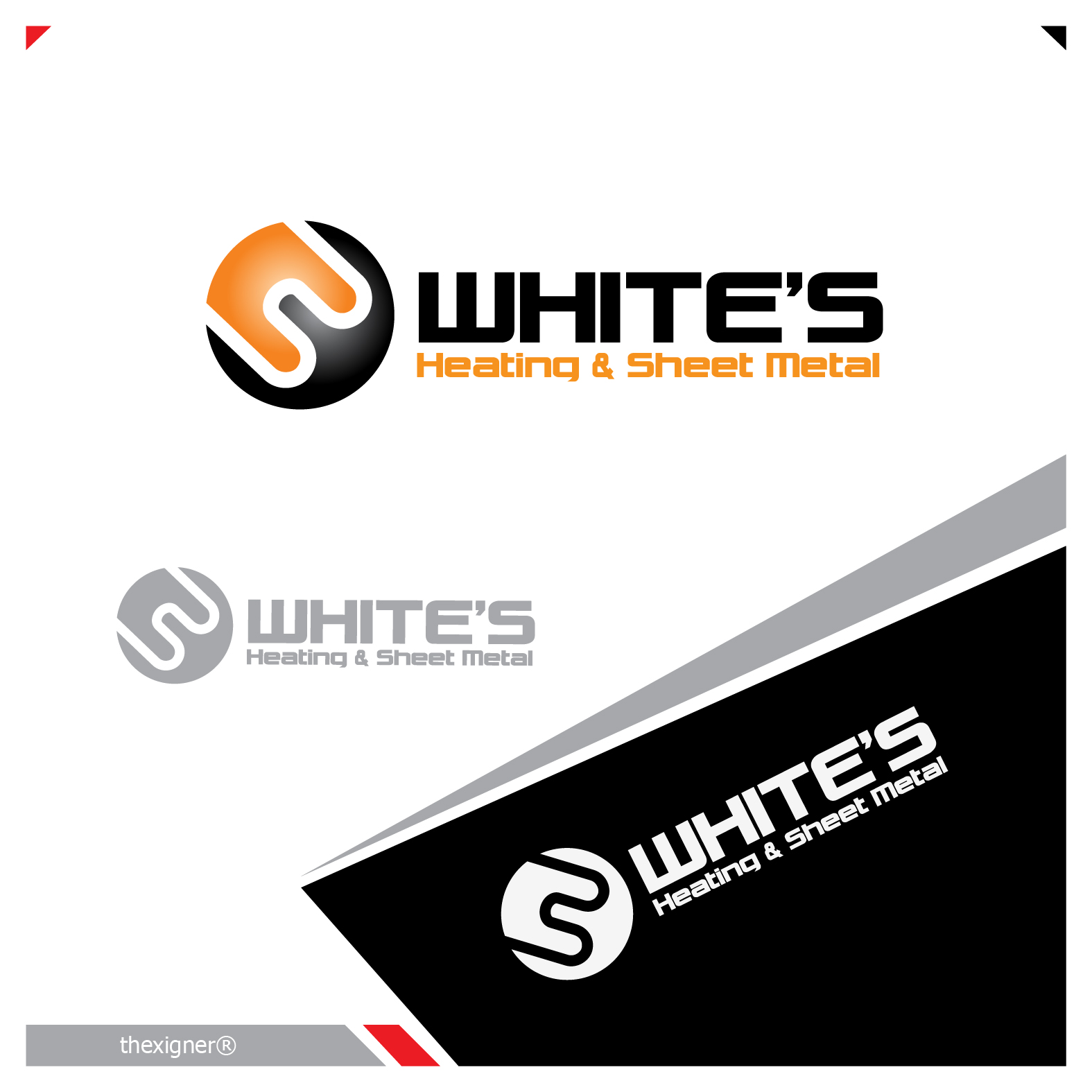 Logo Design by lagalag - Entry No. 52 in the Logo Design Contest Imaginative Logo Design for White's Heating and Sheet Metal.