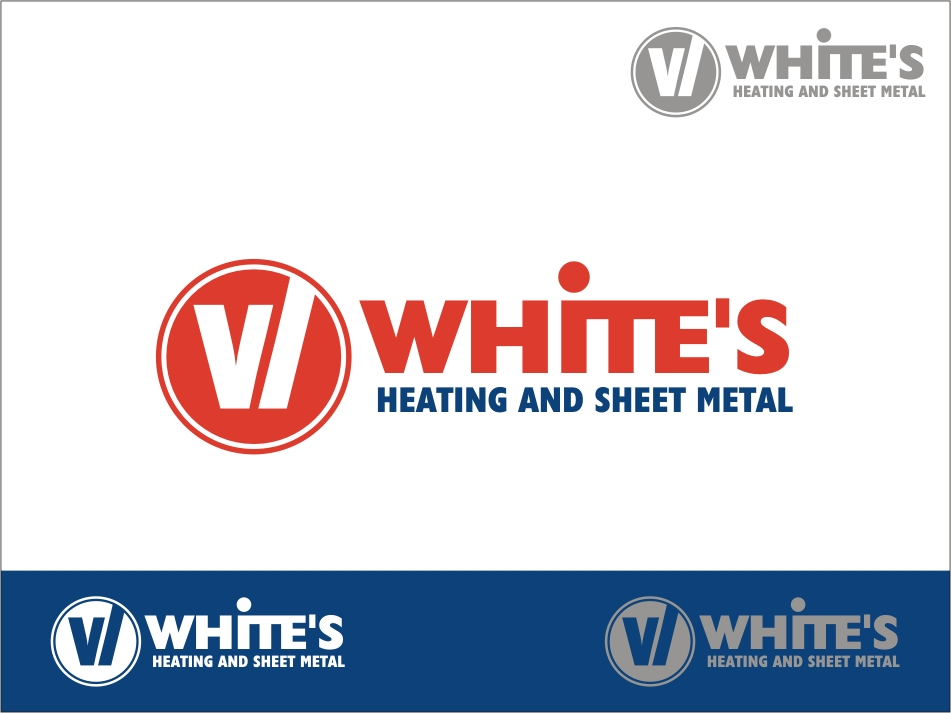 Logo Design by RED HORSE design studio - Entry No. 54 in the Logo Design Contest Imaginative Logo Design for White's Heating and Sheet Metal.