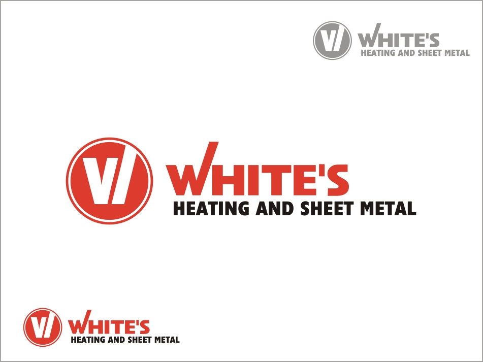 Logo Design by RED HORSE design studio - Entry No. 55 in the Logo Design Contest Imaginative Logo Design for White's Heating and Sheet Metal.