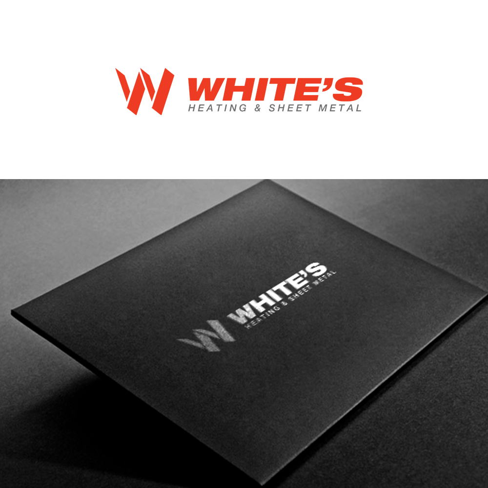Logo Design by omARTist - Entry No. 56 in the Logo Design Contest Imaginative Logo Design for White's Heating and Sheet Metal.