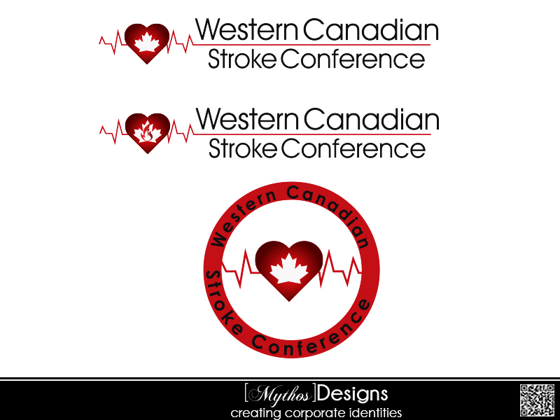 Logo Design by Mythos Designs - Entry No. 48 in the Logo Design Contest Artistic Logo Design for Western Canadian Stroke Conference.