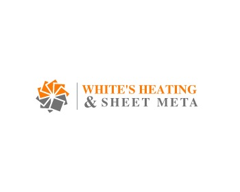 Logo Design by Parag Sohani - Entry No. 62 in the Logo Design Contest Imaginative Logo Design for White's Heating and Sheet Metal.