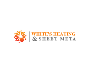 Logo Design by Parag Sohani - Entry No. 63 in the Logo Design Contest Imaginative Logo Design for White's Heating and Sheet Metal.
