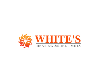 Logo Design by Parag Sohani - Entry No. 64 in the Logo Design Contest Imaginative Logo Design for White's Heating and Sheet Metal.