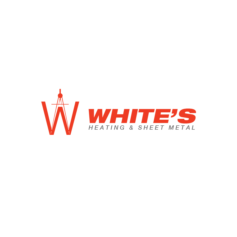 Logo Design by omARTist - Entry No. 65 in the Logo Design Contest Imaginative Logo Design for White's Heating and Sheet Metal.