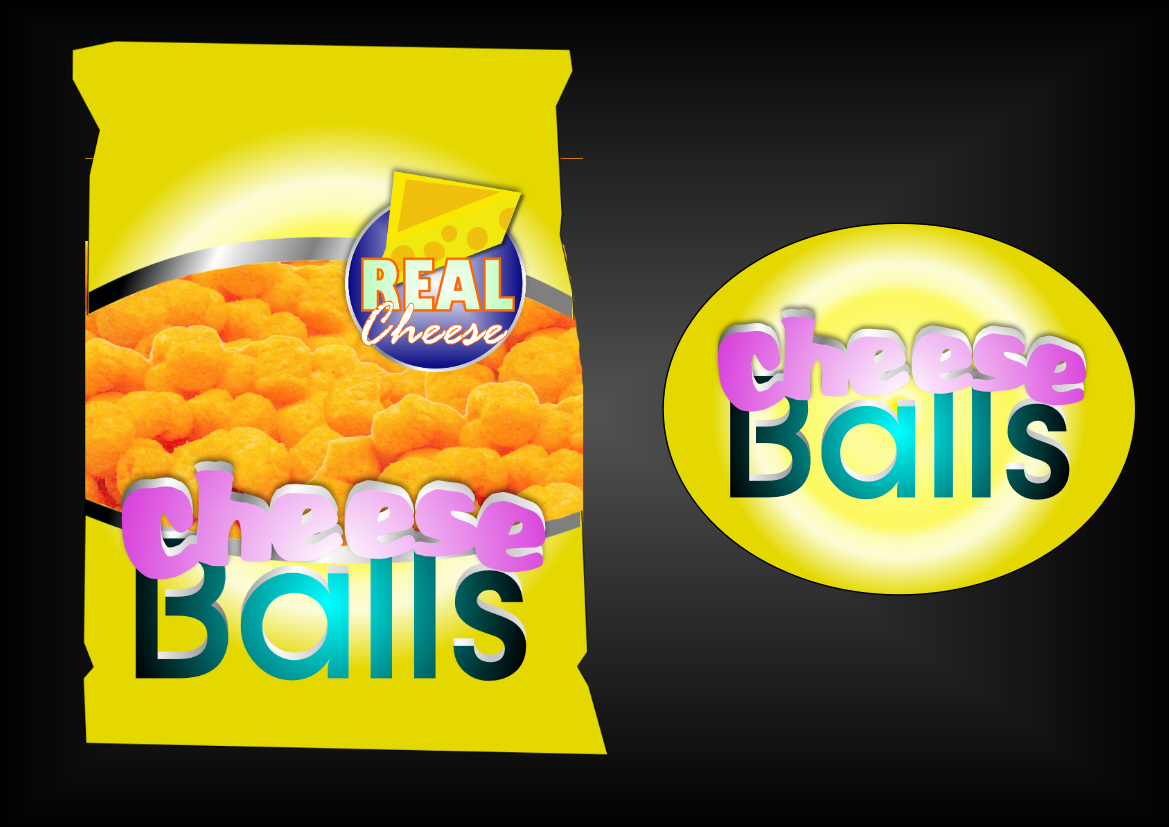 Logo Design by Heri Susanto - Entry No. 44 in the Logo Design Contest Imaginative Logo Design for Cheese Balls.