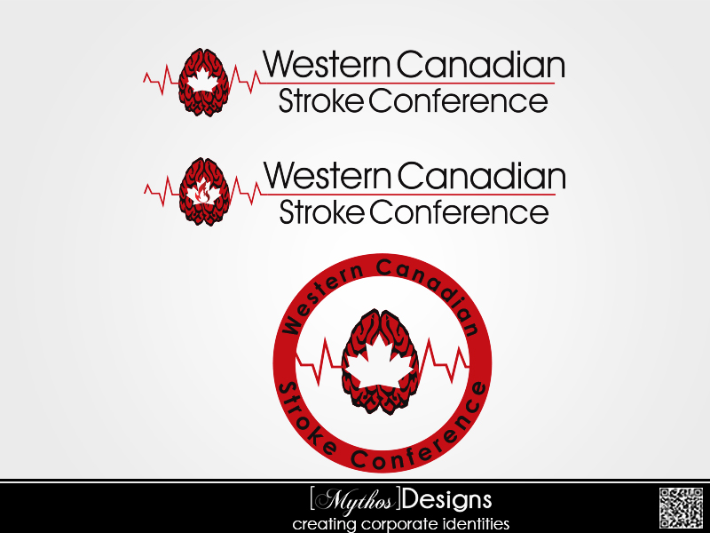 Logo Design by Mythos Designs - Entry No. 51 in the Logo Design Contest Artistic Logo Design for Western Canadian Stroke Conference.