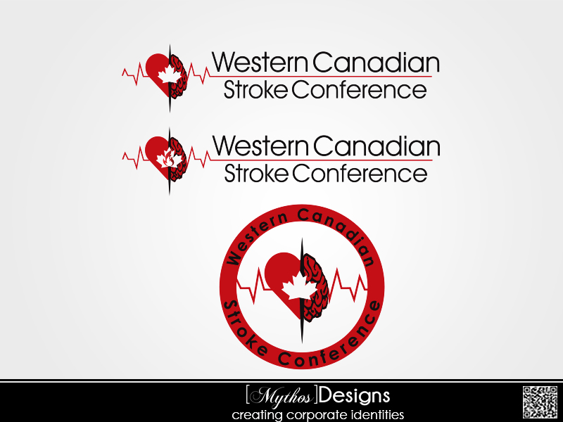 Logo Design by Mythos Designs - Entry No. 52 in the Logo Design Contest Artistic Logo Design for Western Canadian Stroke Conference.