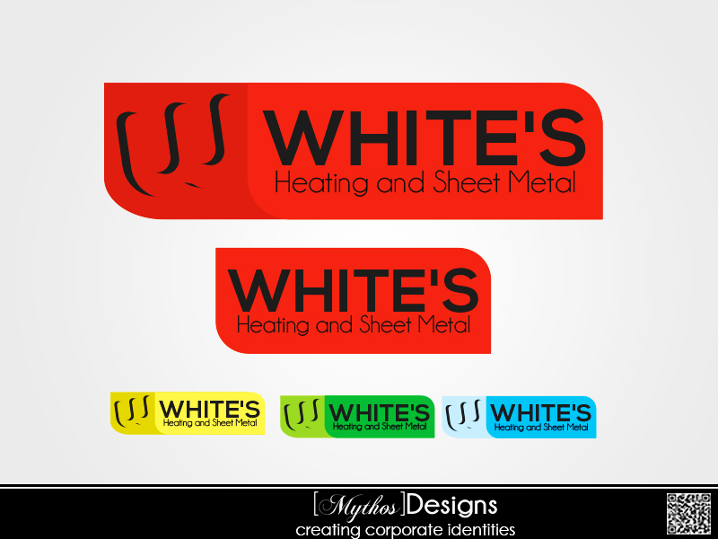 Logo Design by Mythos Designs - Entry No. 66 in the Logo Design Contest Imaginative Logo Design for White's Heating and Sheet Metal.