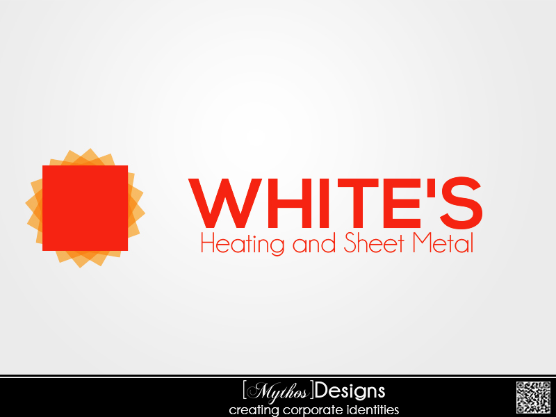 Logo Design by Mythos Designs - Entry No. 67 in the Logo Design Contest Imaginative Logo Design for White's Heating and Sheet Metal.