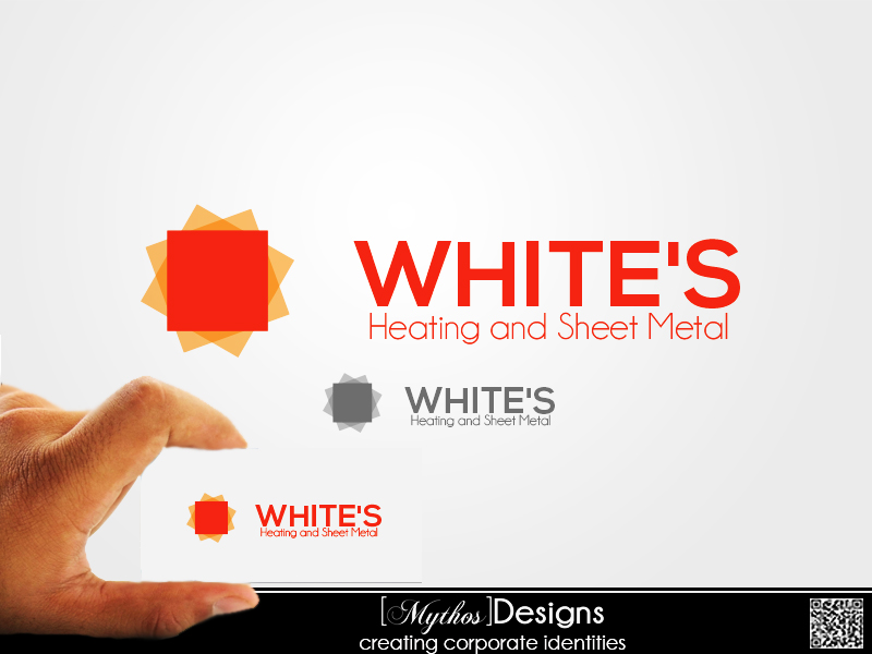 Logo Design by Mythos Designs - Entry No. 68 in the Logo Design Contest Imaginative Logo Design for White's Heating and Sheet Metal.