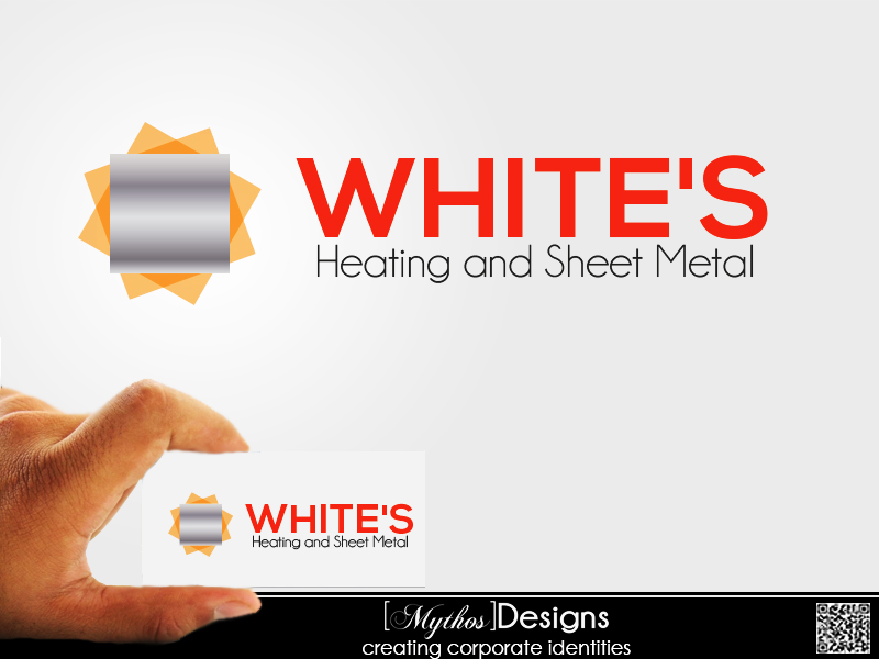 Logo Design by Mythos Designs - Entry No. 69 in the Logo Design Contest Imaginative Logo Design for White's Heating and Sheet Metal.