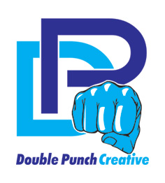 Logo Design by Mohamed Sheikh - Entry No. 2 in the Logo Design Contest Unique Logo Design Wanted for Double Punch Creative.