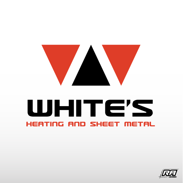 Logo Design by RA-Design - Entry No. 70 in the Logo Design Contest Imaginative Logo Design for White's Heating and Sheet Metal.