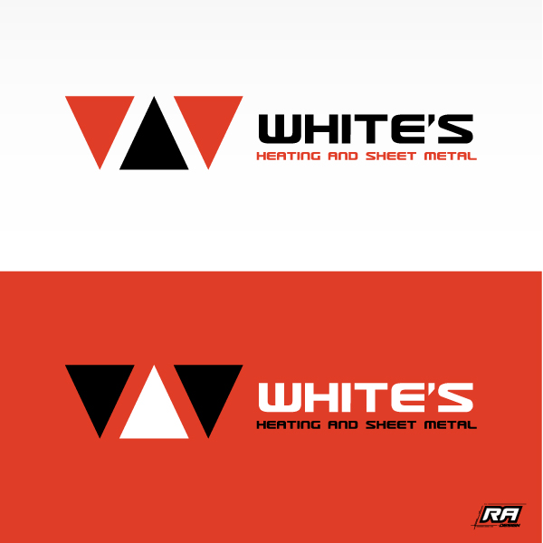Logo Design by RA-Design - Entry No. 71 in the Logo Design Contest Imaginative Logo Design for White's Heating and Sheet Metal.