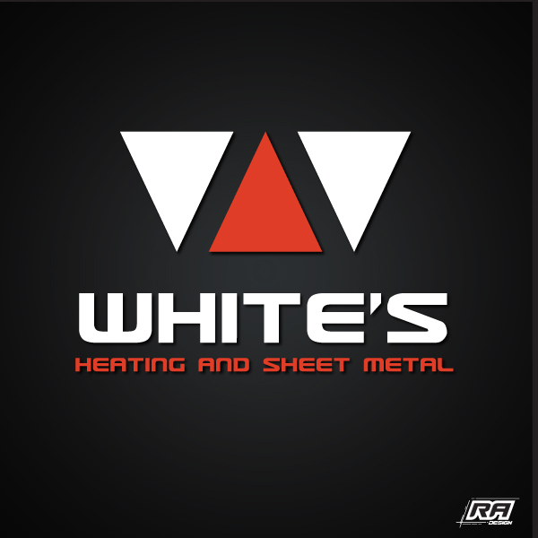 Logo Design by RA-Design - Entry No. 72 in the Logo Design Contest Imaginative Logo Design for White's Heating and Sheet Metal.