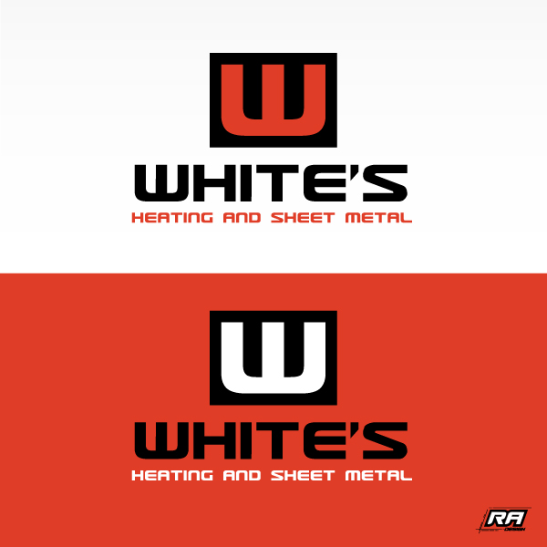 Logo Design by RA-Design - Entry No. 73 in the Logo Design Contest Imaginative Logo Design for White's Heating and Sheet Metal.