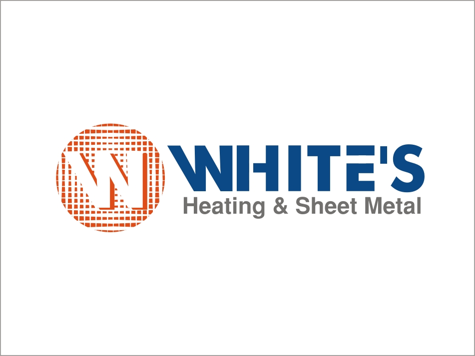 Logo Design by RED HORSE design studio - Entry No. 74 in the Logo Design Contest Imaginative Logo Design for White's Heating and Sheet Metal.