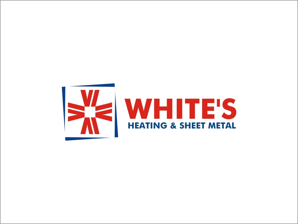 Logo Design by RED HORSE design studio - Entry No. 75 in the Logo Design Contest Imaginative Logo Design for White's Heating and Sheet Metal.