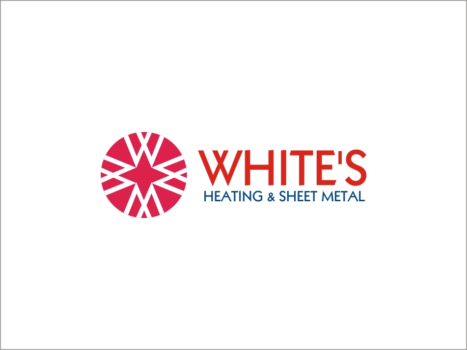 Logo Design by RED HORSE design studio - Entry No. 77 in the Logo Design Contest Imaginative Logo Design for White's Heating and Sheet Metal.
