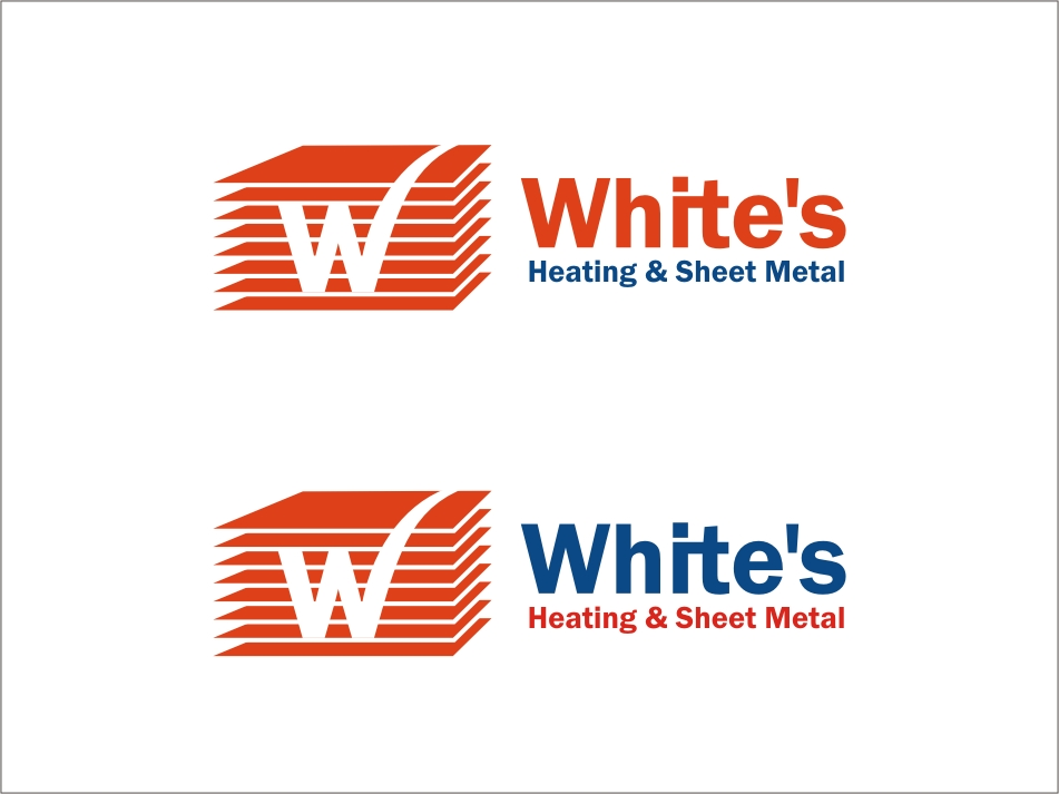 Logo Design by RED HORSE design studio - Entry No. 79 in the Logo Design Contest Imaginative Logo Design for White's Heating and Sheet Metal.
