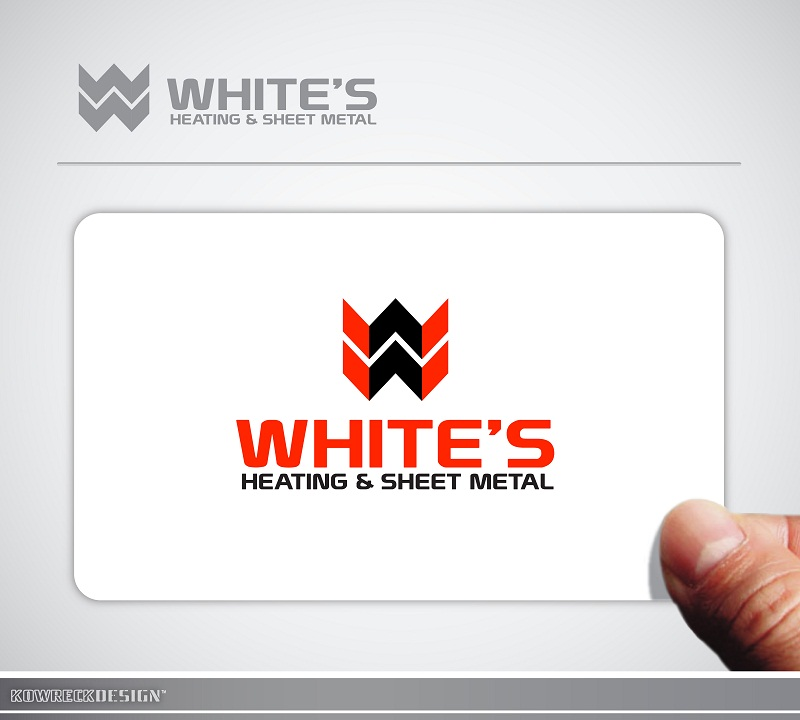 Logo Design by kowreck - Entry No. 80 in the Logo Design Contest Imaginative Logo Design for White's Heating and Sheet Metal.