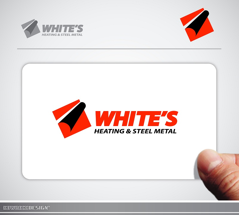 Logo Design by kowreck - Entry No. 81 in the Logo Design Contest Imaginative Logo Design for White's Heating and Sheet Metal.