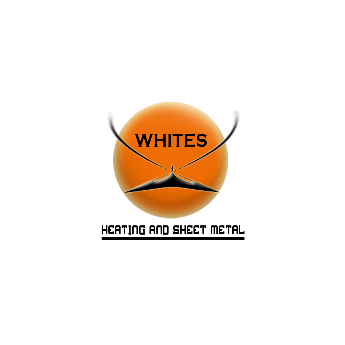 Logo Design by Moag - Entry No. 82 in the Logo Design Contest Imaginative Logo Design for White's Heating and Sheet Metal.